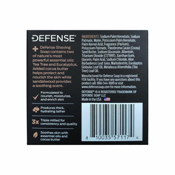 DEFENSE PREMIUM SHAVING SOAP BACK